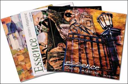 Examples of Magazine Printing with 4 different cover arts